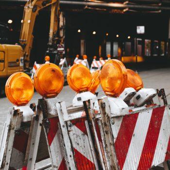 Barken an Baustelle